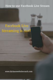 How to use Facebook Live Streaming pin