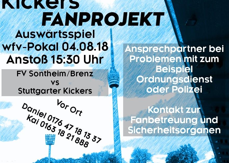 Auswärtsspiel wfv-Pokal am Samstag, 04.08.2018, um 15:30 Uhr gegen FV Sontheim/Brenz