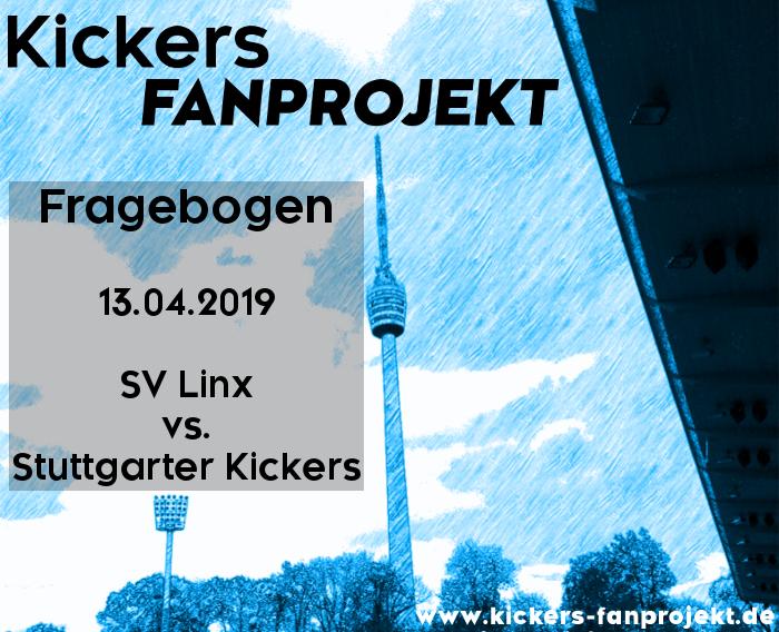 Auswärtsfragebogen zum Spiel am 13.04.2019 beim SV Linx