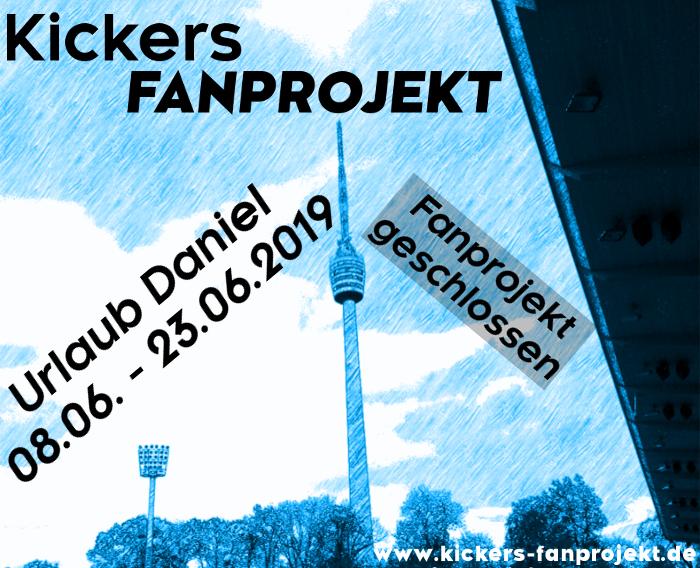 Urlaub Daniel – Fanprojekt geschlossen