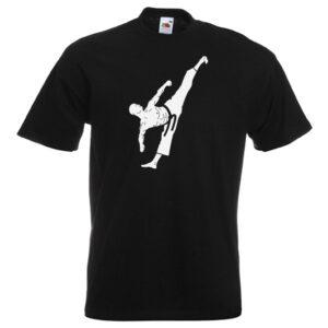 Male Colour Belts 1C-white-on-black-Tshirts