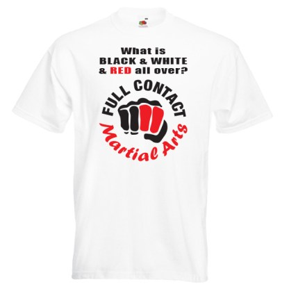 full contact Martial Arts 18R2-red-and-black-on-white-shirt