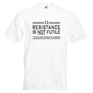 resistance is not futile G3-black-on-white-Tshirts