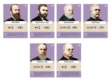 Possible Presidential Propaganda Cards. Photo Credit: Tesla vs. Edison: Powering Up! Kickstarter campaign page