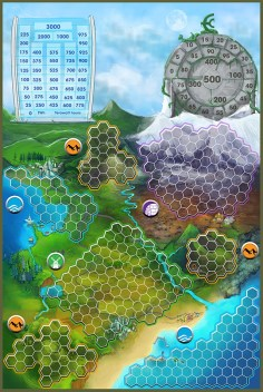 Game board. Photo Credit: Game of Energy Kickstarter campaign page