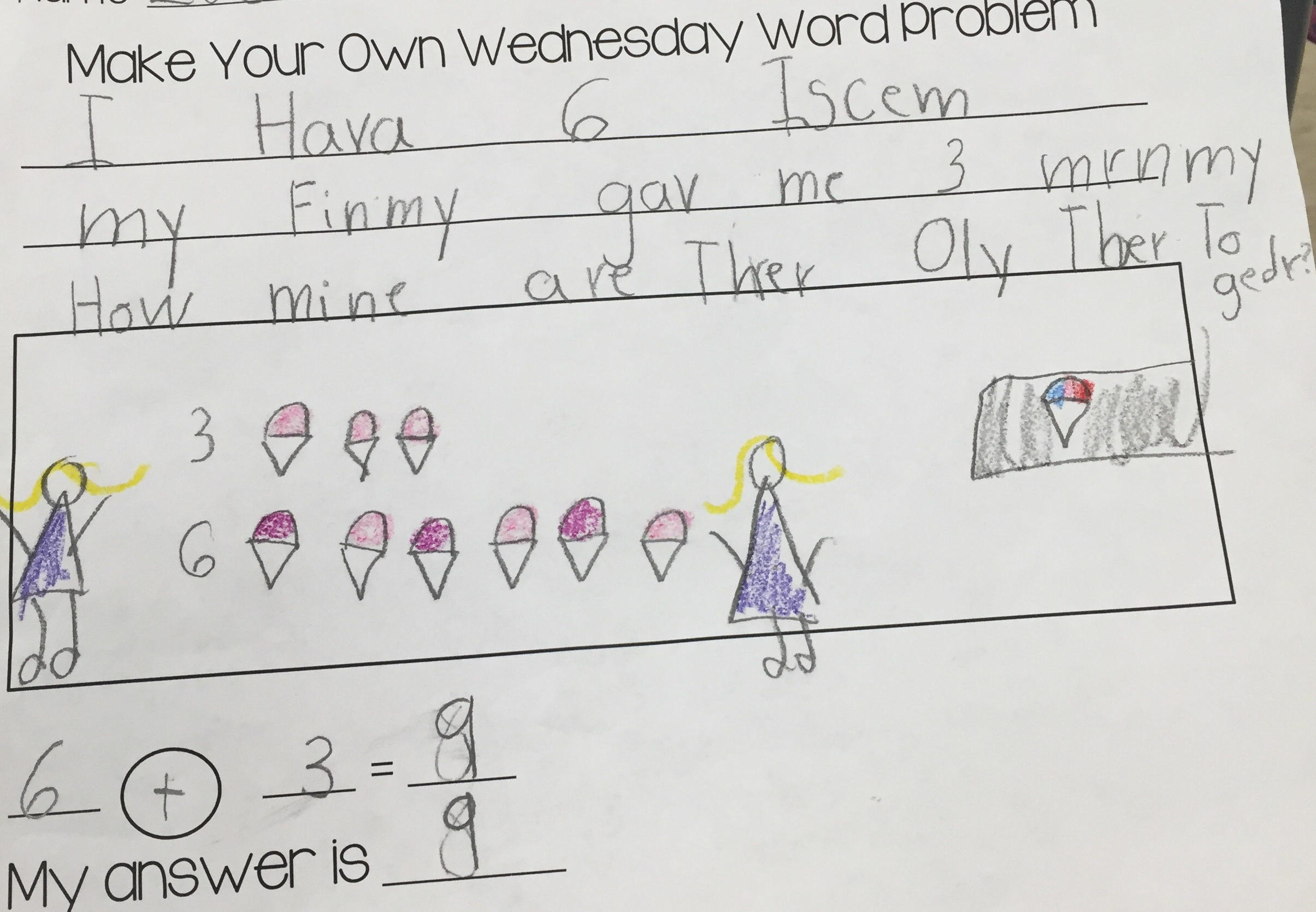 Create Your Own Wednesday Word Problem
