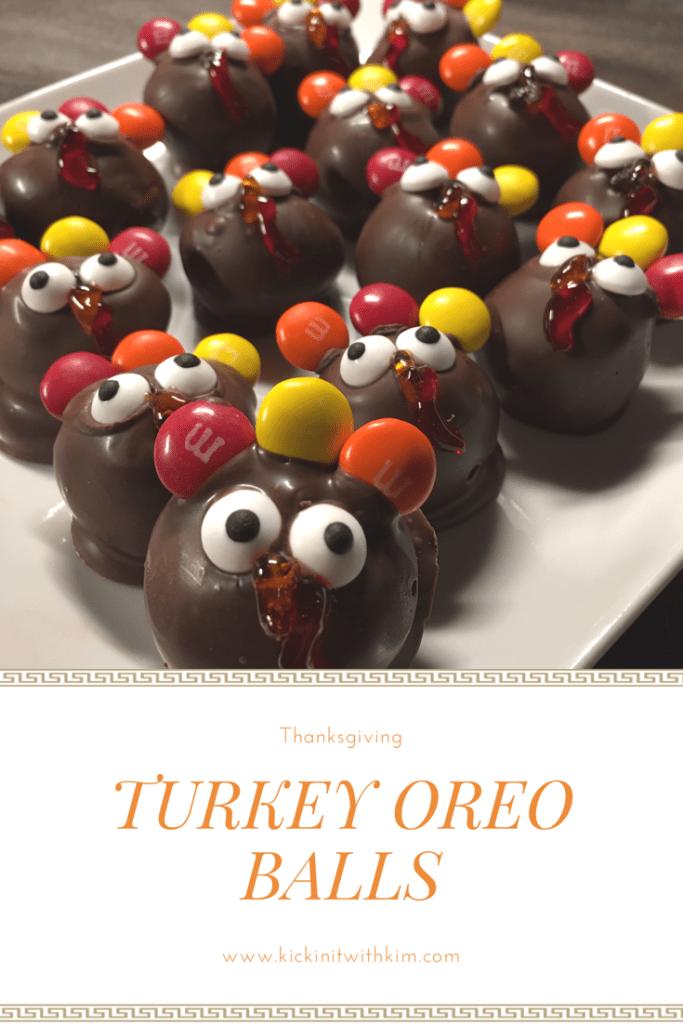 Turkey Oreo Balls #thanksgiving #turkey #dessert #oreoballs #thanksgivingdessert #easydessert