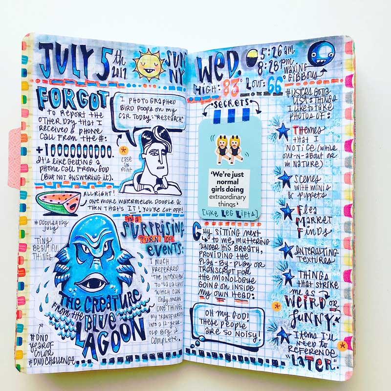 Megan Jeffery art journal