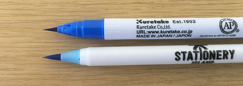 Kuretake vs Stationery Island Brush pens