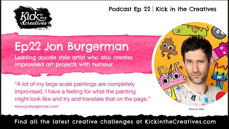 Podcast Interview Jon Burgerman Artist Doodler