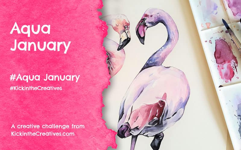 Aqua January – Watercolour Challenge