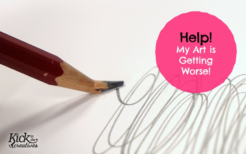 help art drawing getting worse