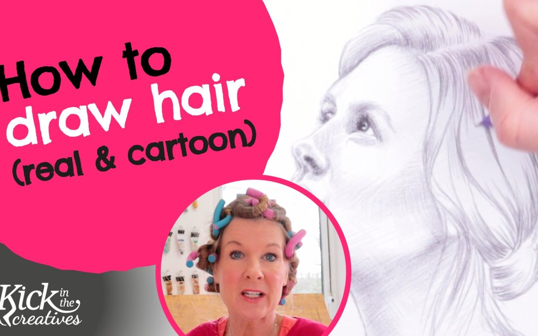 How to Draw Hair for Beginners Curly or Straight Real or Cartoon – Art Kick Sunday