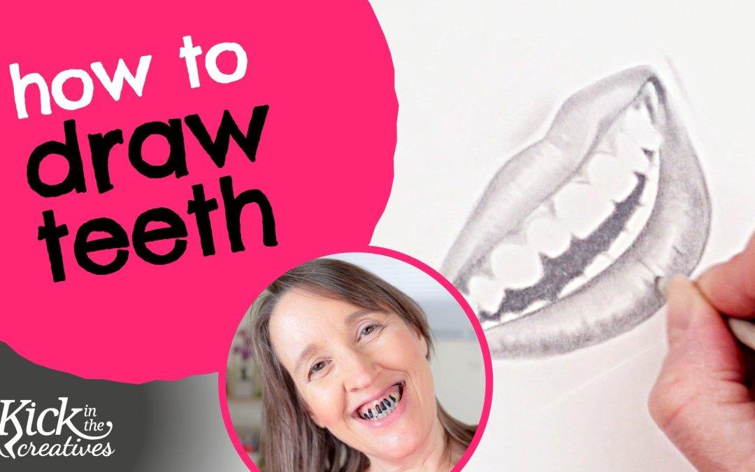 Drawing Teeth with Pencil Tutorial – Art Kick Sunday