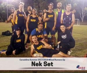 The Ballerz def Nek Set 5-3 in the mixed final.