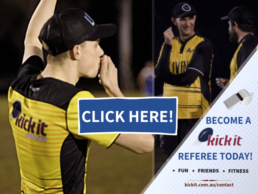 Become a referee. About Kick it Touch Football