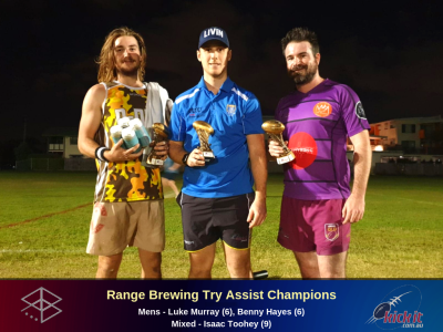 Range Brewing Try Assist Champions. 2019. Stafford. Ballers. Joeys.