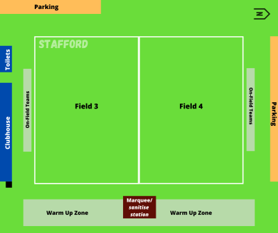 Stafford Venue Roadmap. Kickit Touch Football