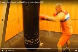 Boxing training precision striking