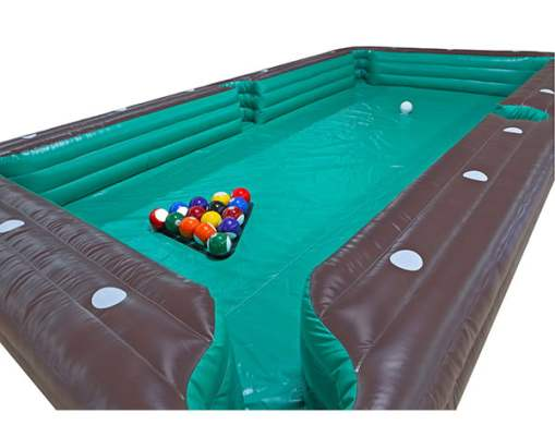 Soccer Billiards Inflatable Game   Kicks and Giggles USA   The     Soccer Billiards inflatable game for rent Greensboro  Activity  Games   Interactive  One