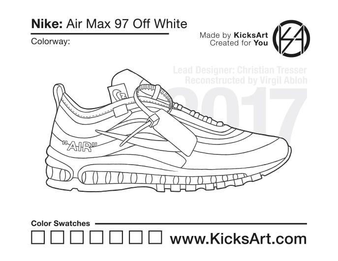promo code b1efd 2acfd Nike Air Max 97 Off White Stencil