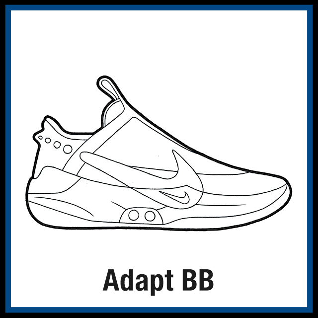 Nike Adapt BB Sneaker Coloring Pages - Created By KicksArt
