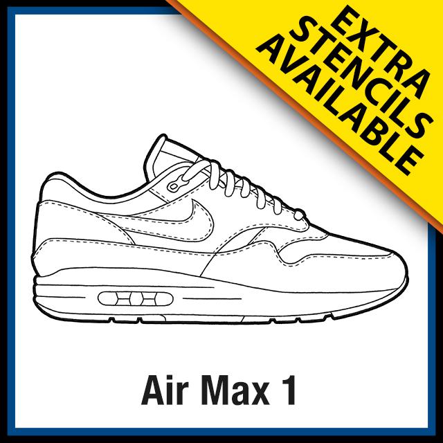 nike air max 1 template
