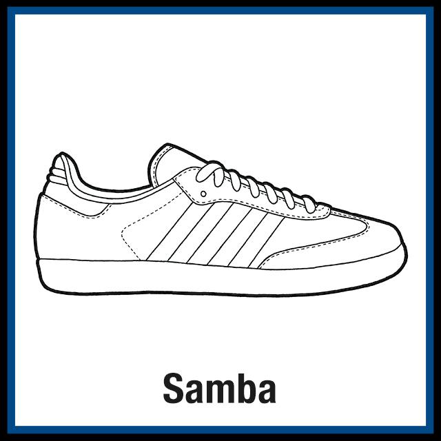 Adidas Samba Sneaker Coloring Pages Created By Kicksart