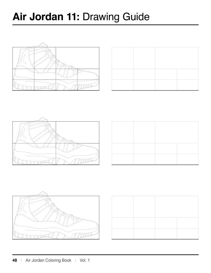 Jordan 11 Coloring Pages : jordan, coloring, pages, Jordan, Sneaker, Coloring, Created, KicksArt