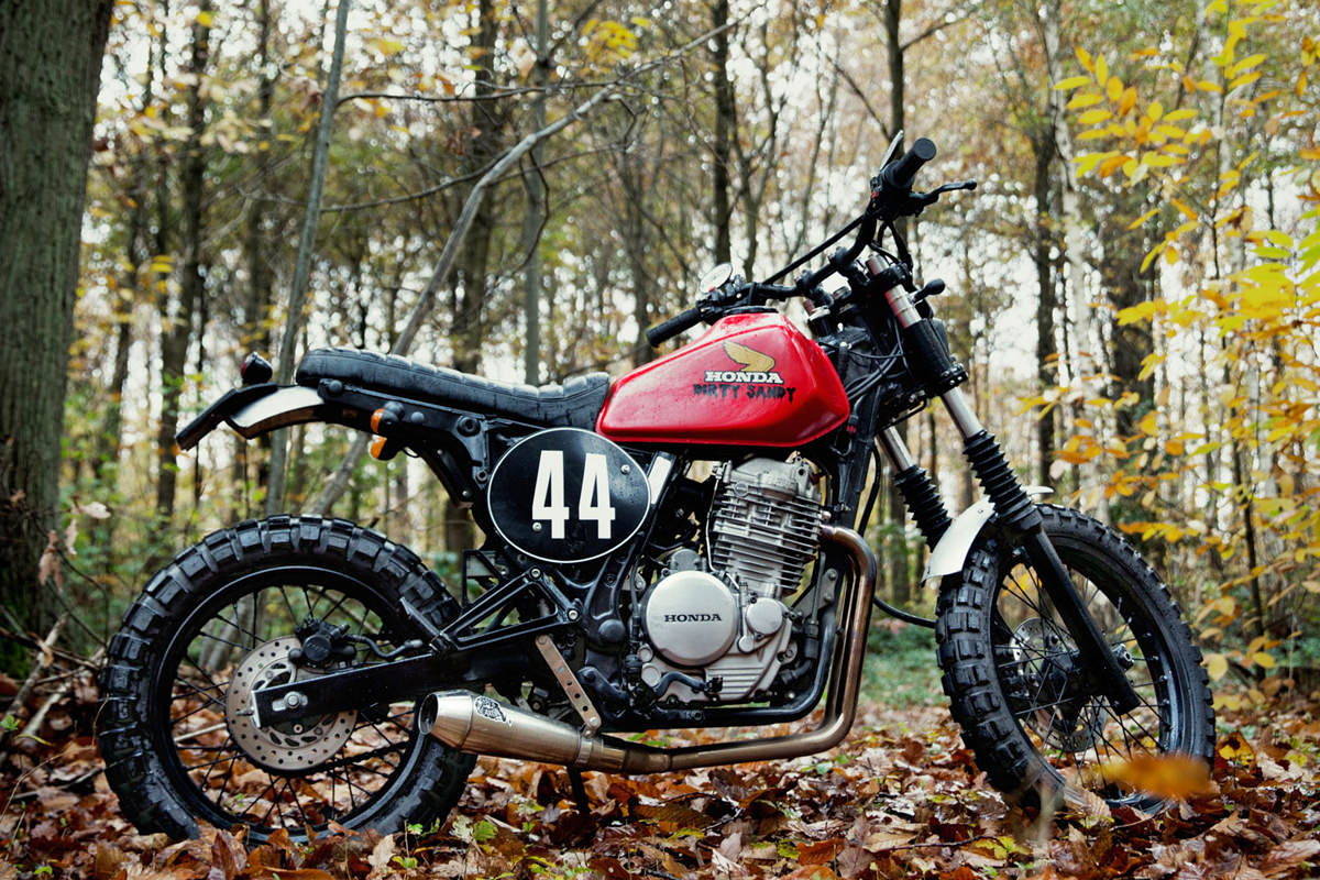 Dirty Sandy 4h10 S Custom Honda Dual Sport Bike Exif