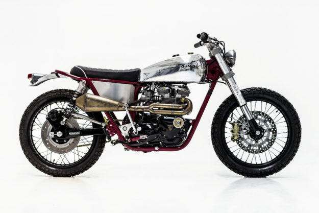 Triumph T140 scrambler by Herencia Custom Garage