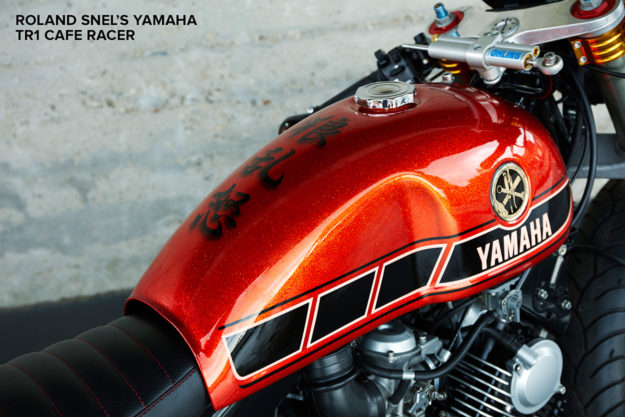 Paint On The Tank Of Roland Snel S Yamaha Cafe Racer