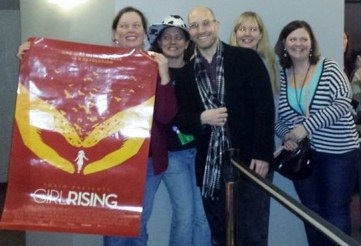 At screening of girl rising