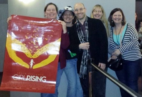 At screening of girl rising