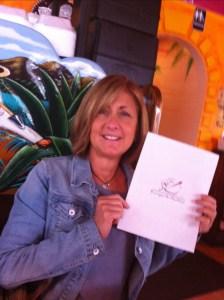 Linda Pelowski, designer of the new logo