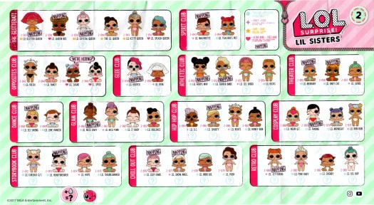 LOL Surprise Lil Sisters Doll Series 2 Checklist List Collector Guide