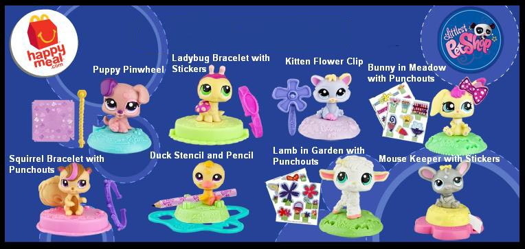 Mcdonalds Happy Meal Toys 2011 Littlest Pet Shop Kids Time