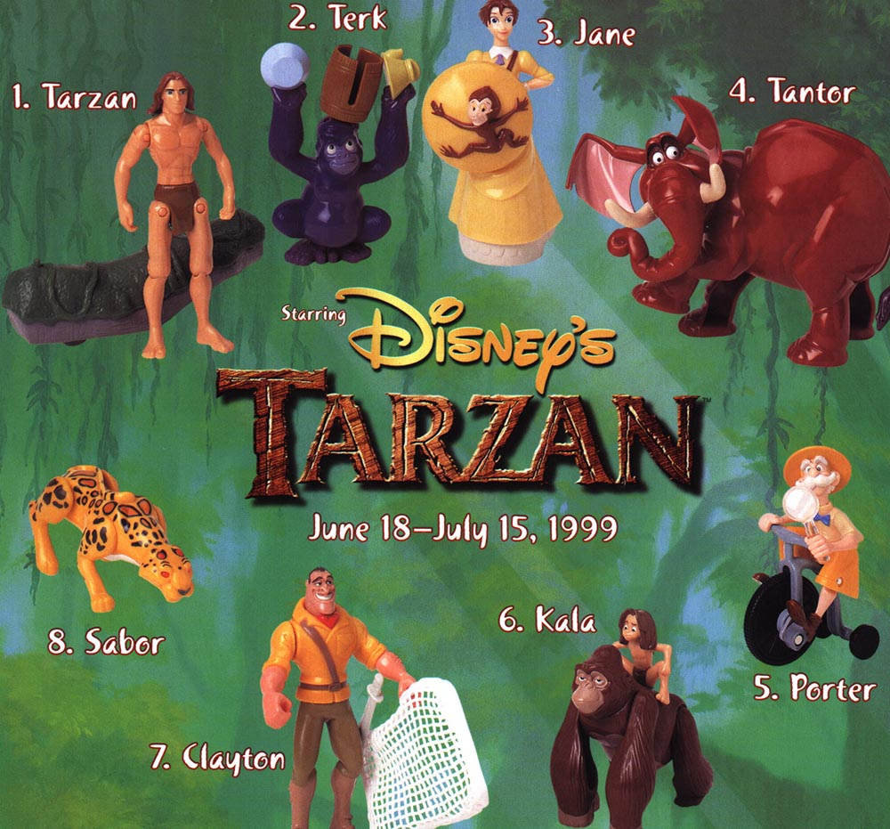 MULTI-LISTING Tarzan 1999 Disney Action Figures Figurines McDonalds