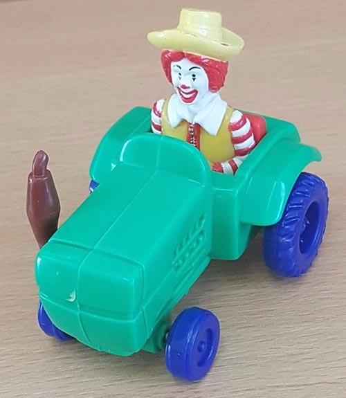 1995-mcfarm-mcdonalds-happy-meal-toys-ronald-green-tractor