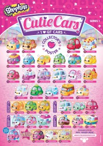 Cutie Cars Season 1 Collector Guide List Checklist
