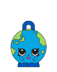 Lil' Globe #8-079 - Shopkins Season 8 - Bag Charms