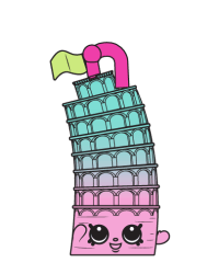 Lena Tower #8-082 - Shopkins Season 8 - Bag Charms