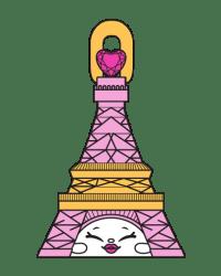 Frenchy Tower #8-083 - Shopkins Season 8 - Bag Charms