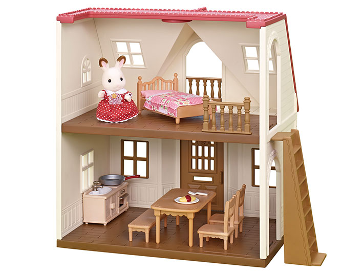 ... Choice For Those Starting Out With Calico Critters! This All In One Set  Includes A Two Story House, Figure (Hopscotch Rabbit Girl), And Furniture.