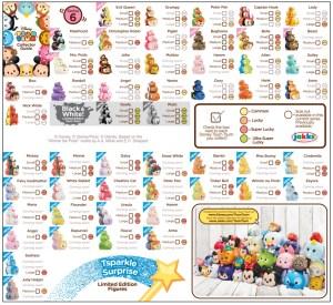 Tsum Tsum Series 6 Collector's Guide List Checklist