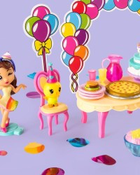 party-popteenies-series-1-Rainbow Unicorn Party Surprise Box Playset with Confetti toys 2