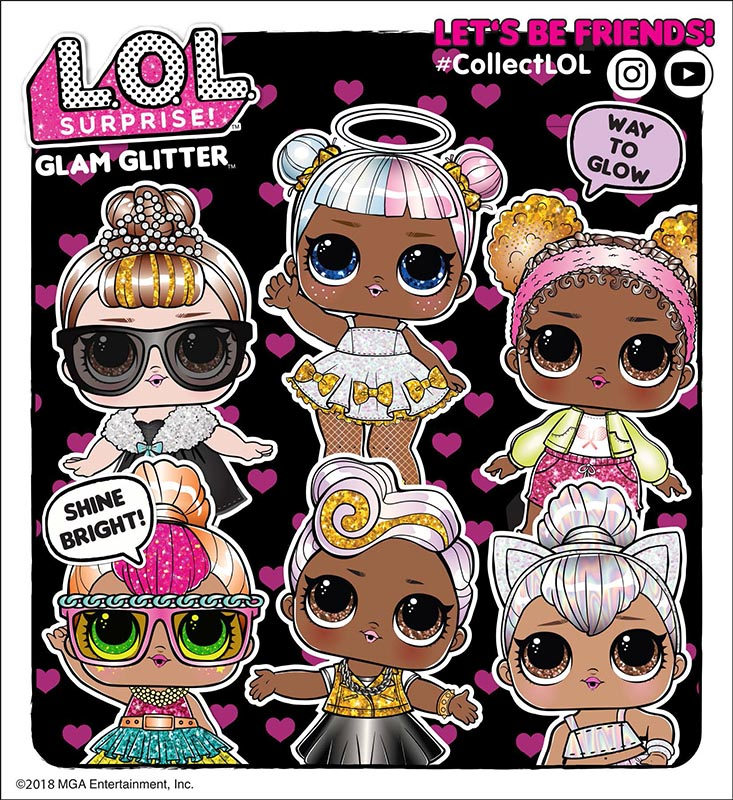 L O L Surprise Glam Glitter Series List Of Characters Checklist