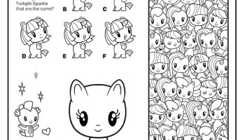 6300 My Little Pony Cutie Mark Crew Coloring Book Picture HD