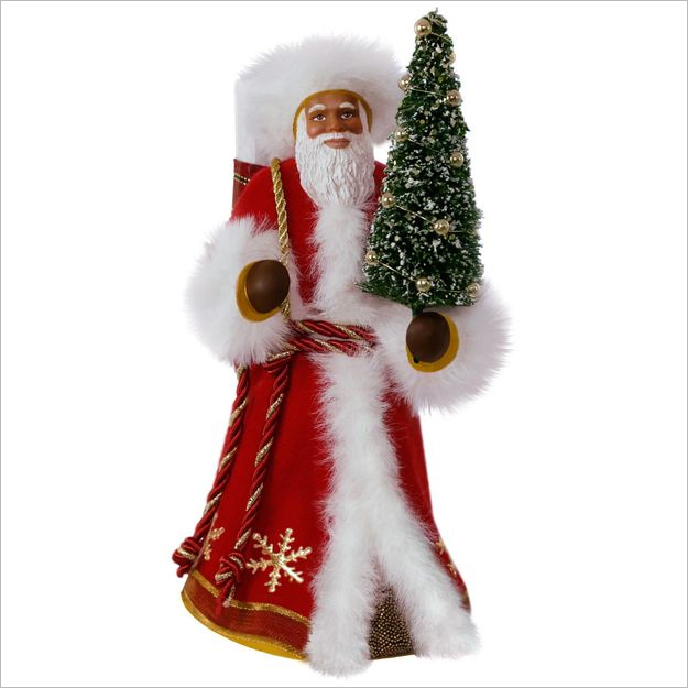 hallmark christmas ornaments 2017 qsm7815 father christmas african american - African Christmas Decorations