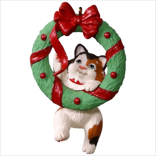 hallmark christmas ornaments 2017 qx9402 mischievous kittens